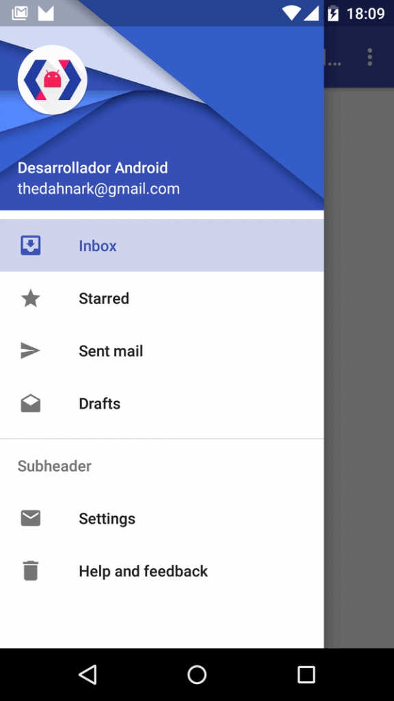 Navigation Drawer Android Design Support Library navigation view navigationview