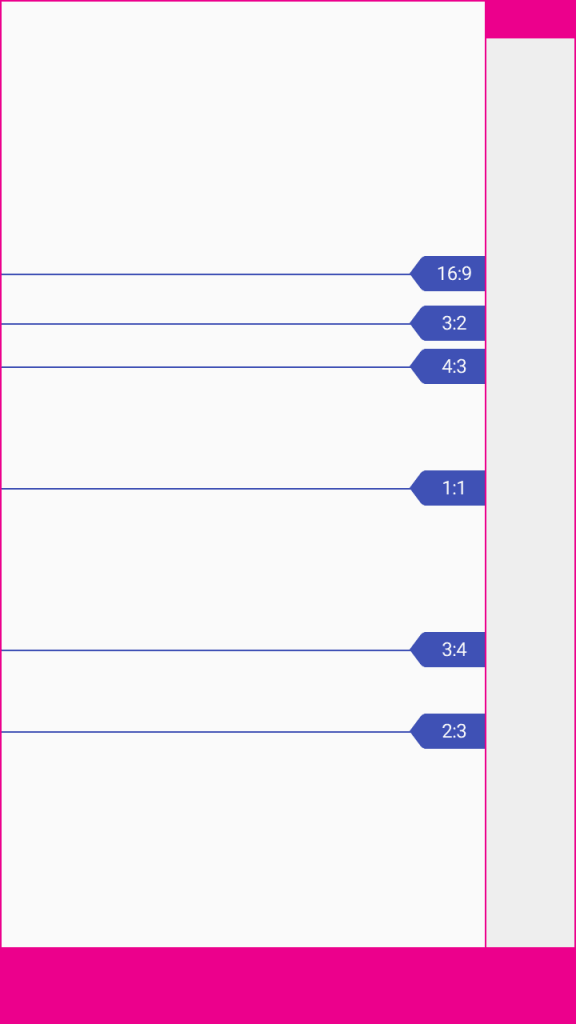 métricas material design layouts