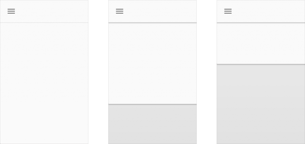 layout principios toolbar cascada