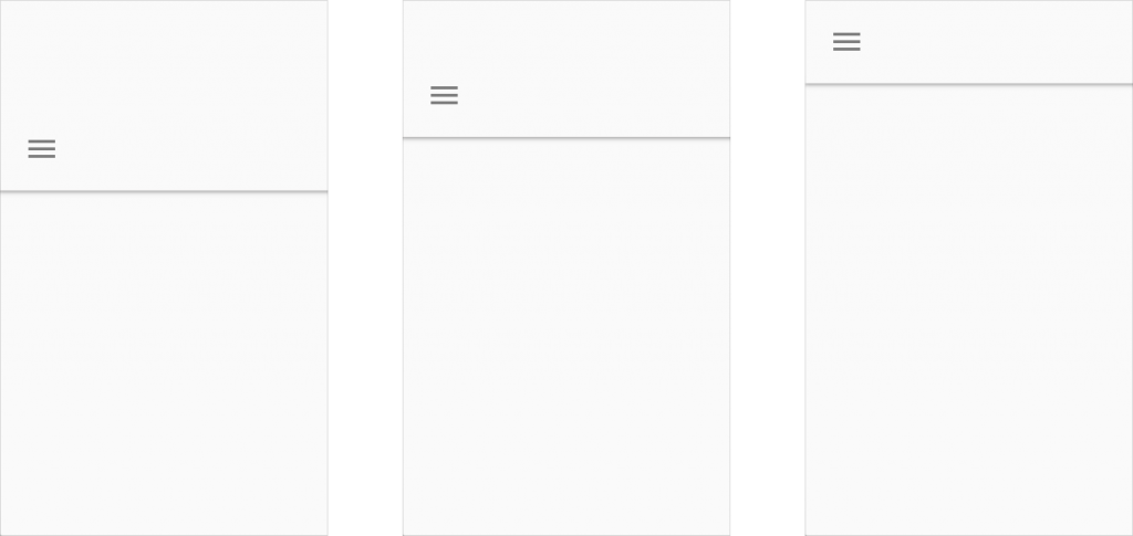 principios layouts material design