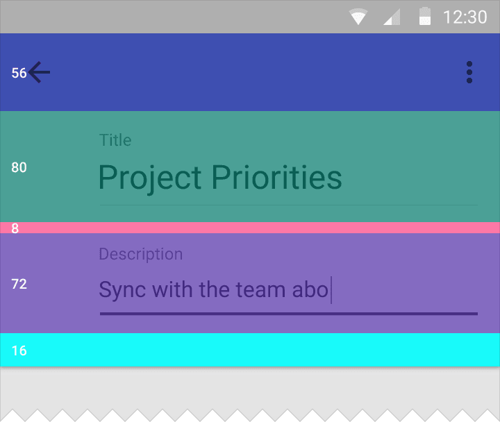 toolbars material design estructura layouts