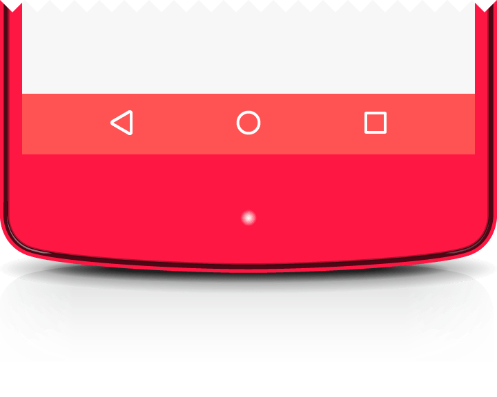 navigation bar metricas material design layouts