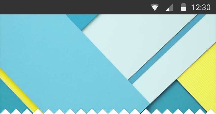 status bar metricas material design layouts