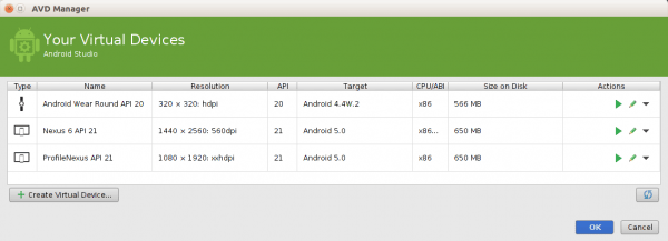 ejecutar tu app android studio