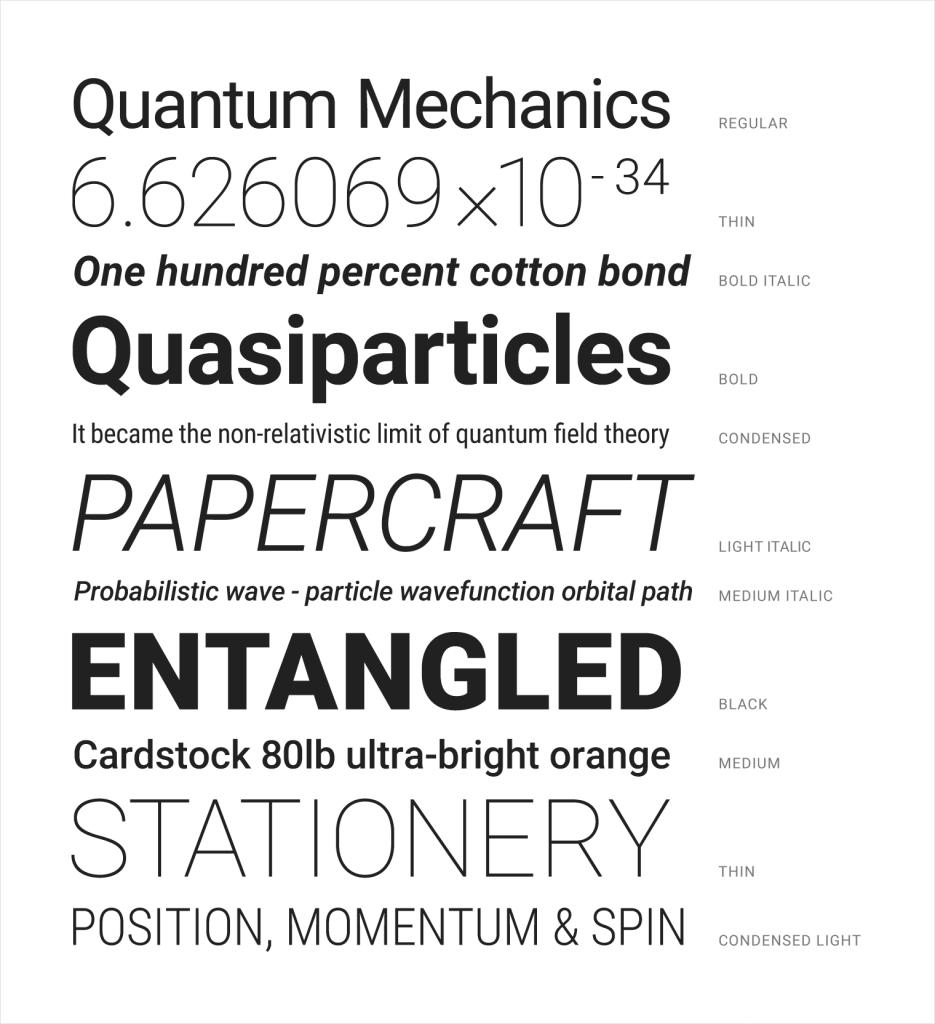 tipografía roboto material design