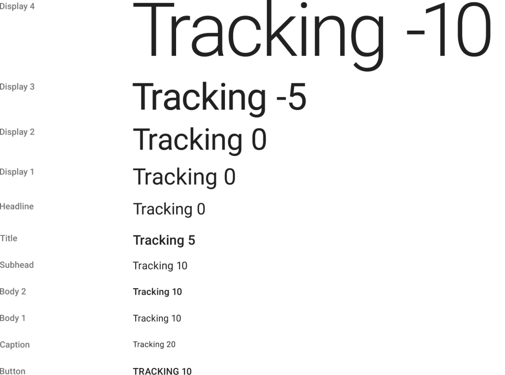 tracking material design
