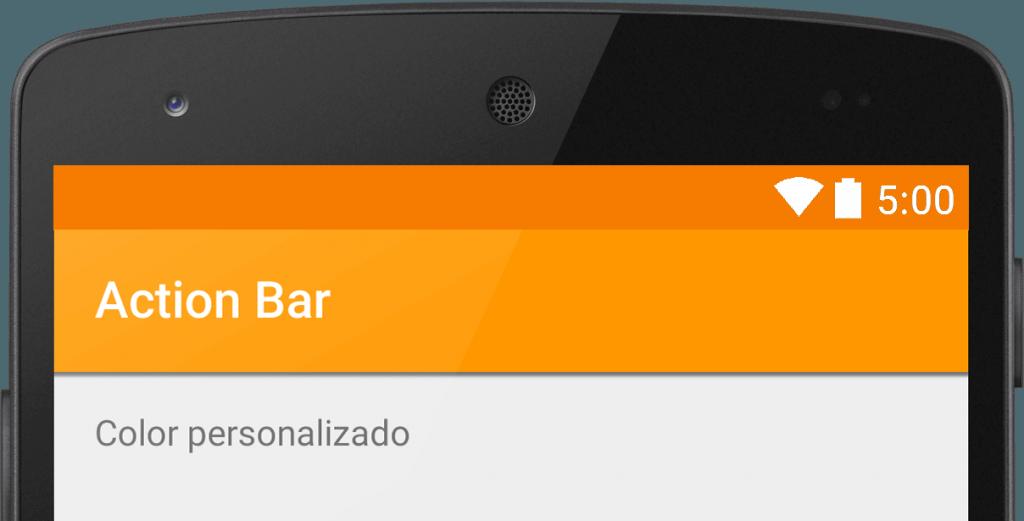 estilizar la action bar android toolbar