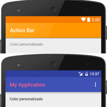 estilizar la action bar android toolbar